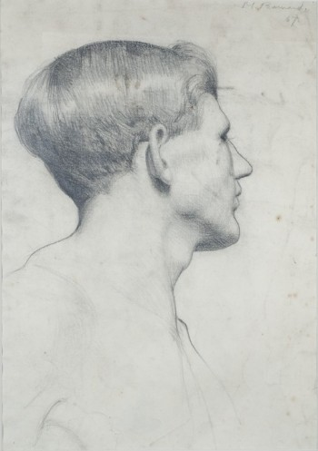 Margaret Helen Barnard Profile Of A Young Man, c.1919