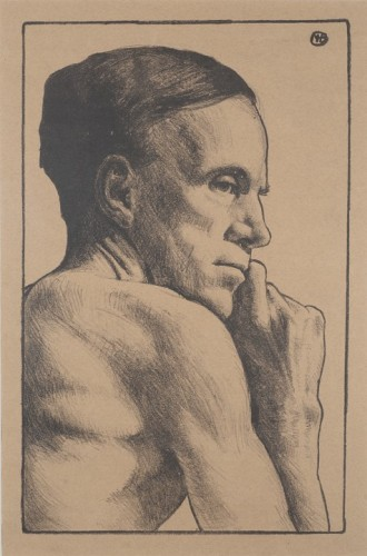 Margaret Helen Barnard Profile Of A Man In Contemplation, c.1919
