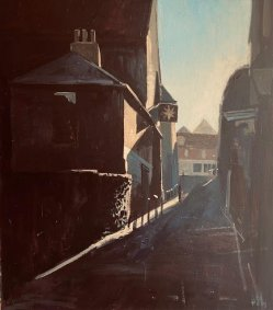 Conduit Hill, Rye, 54x54cm inc. frame - £950 - NOW SOLD