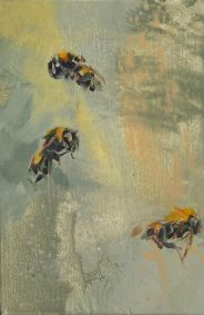 Telling Bees, 357-359, oil on board - £320 NOW SOLD