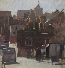 Rye Town from the Crossing, 54x54cm inc. frame  £925