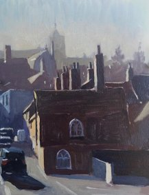 Rye, Winter from the Crossing 26.5x34cm inc. frame - £475
