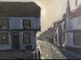 Winter, Morning Light, The Flushing, Rye, 27x34cm inc. frame - £475