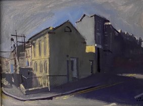The Yellow HouseTop of the East Ascent, St. Leonards, 35.5x43cm inc. frame - £475