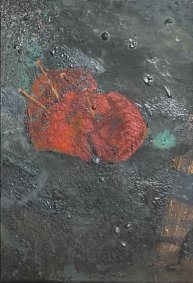Love Charm, 2020, oil on board, 10x13.5cm inc. frame - £240