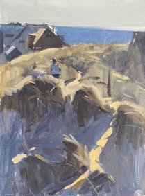 In The Dunes, Camber Sands, 26.5x34cm inc. frame - £475 NOW SOLD