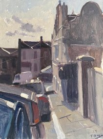 Afternon Light, Victoria Road, St. Leonards, 25.5x33cm inc. frame - £475