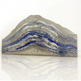 Crest of a Wave, printed, cast, cut and polished glass - £1,800