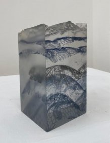 Drift, printed, cast, cut and polished glass - £700