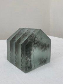 House, printed, cast, cut and polished glass - £650