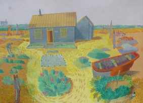 Derek Jarman in his Garden at Dungeness, acrylic on canvas, 66x85cm inc. frame - £1,500 NOW SOLD
