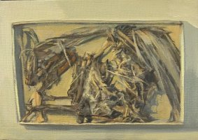 Matchbox Bird, 2020, oil on canvas, 15x20.5cm inc. frame - £350