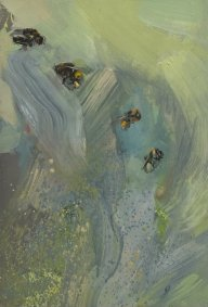 Telling Bees, 364-367, oil on board, 18.5x26cm inc. frame - £440