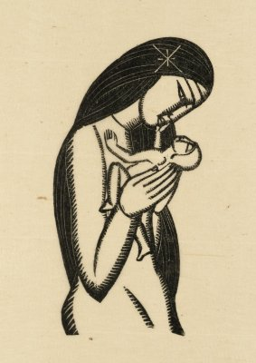 Eric Gill Madonna And Child 1925