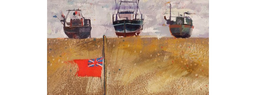 Louis Turpin Beached Boats And Flag Lores